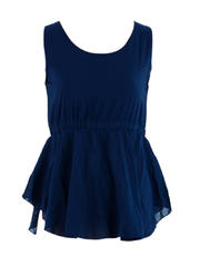 Sleeveless Top with Garter Waist