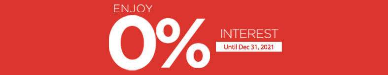 Shop At 0% Interest This 2021