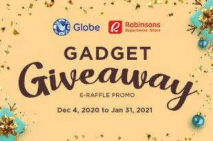 Globe Gadget Giveaway E-Raffle Promo