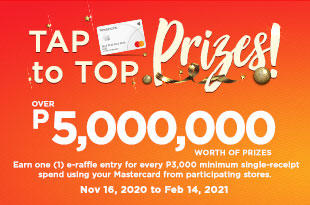 Tap to Top Prizes with MasterCard at Robinsons!