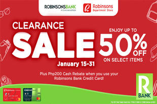 Robinsons Bank Clearance Sale Promo