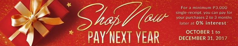Shop Now Pay Next Year