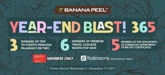 Banana Peel Year-End Blast! 365