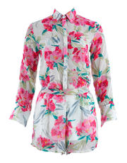Floral Long Sleeves and Shorts Set
