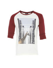 Raglan Sleeves T Shirt with Soft Touch Print
