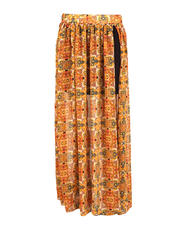 Printed High Slit Long Skirt