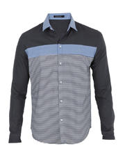 Plain and Stripes Combi Long Sleeves with Chest Stripe