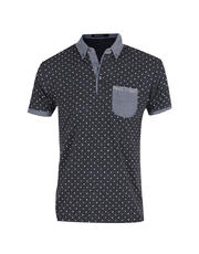 Printed Polkadot Polo Shirt