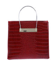 Crocodile Handbag with Thin Cable Strap