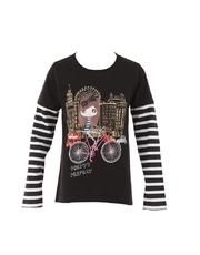 L/S Blouse - girl w/ bike