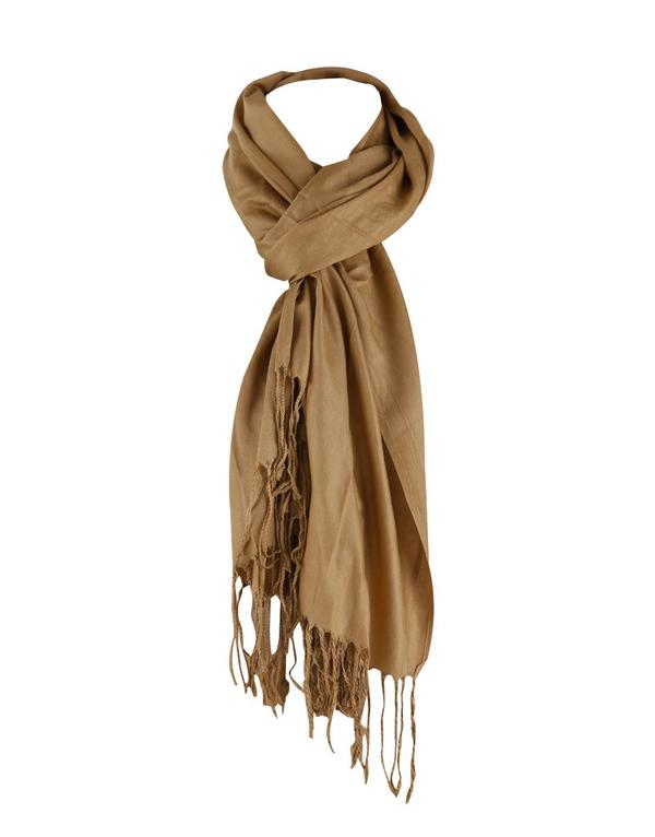 plain shawl with tassel